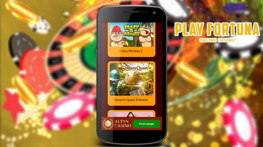 мобильная версия казино Алтын на экране телефона